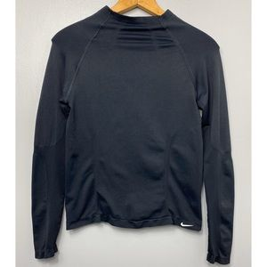 NIKE Solid Black Long Sleeve Compression Tee